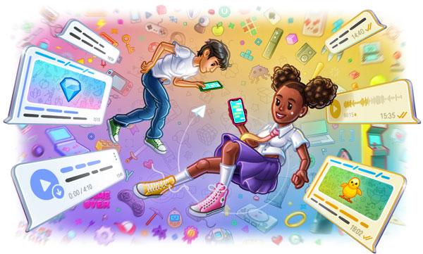 Motywy czatu, interaktywne emoji, potwierdzenia odczytu w grupach i nagrywanie transmisji na żywo