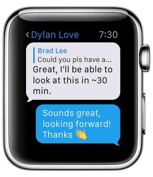 Telegram para Apple Watch - un chat