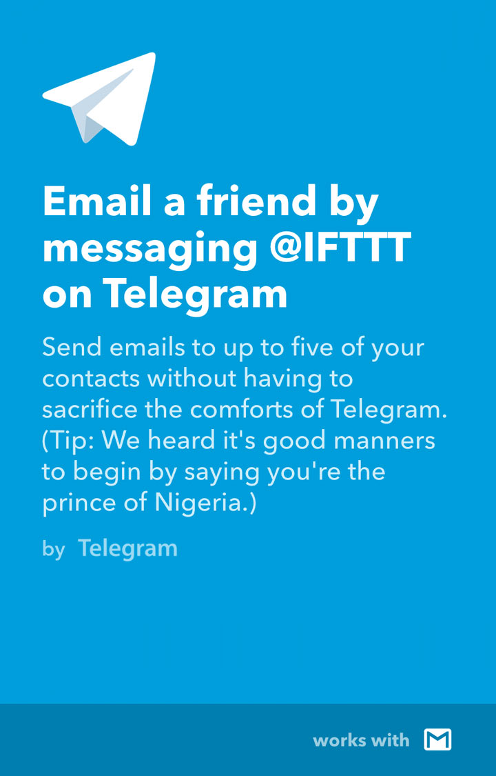Pinned Chats and IFTTT Integrations