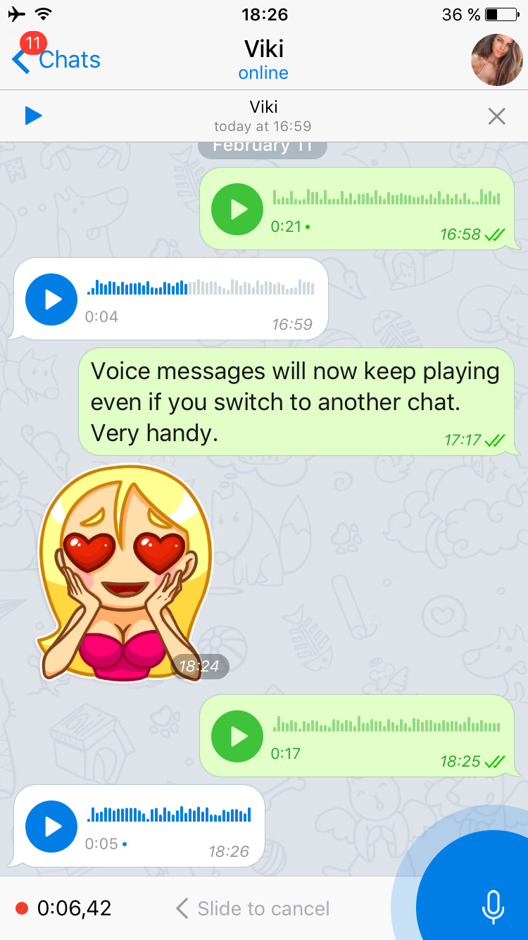 Voice Messages 2 0, Secret Chats 3 0 and